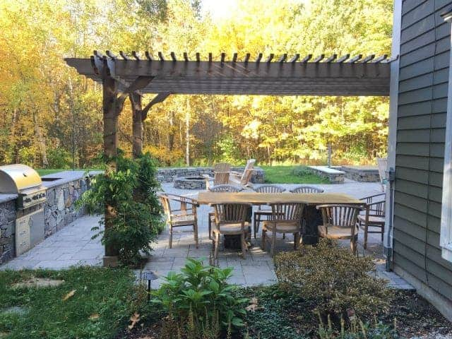 How To Incorporate Attached Cedar Pergola Into Patio Design