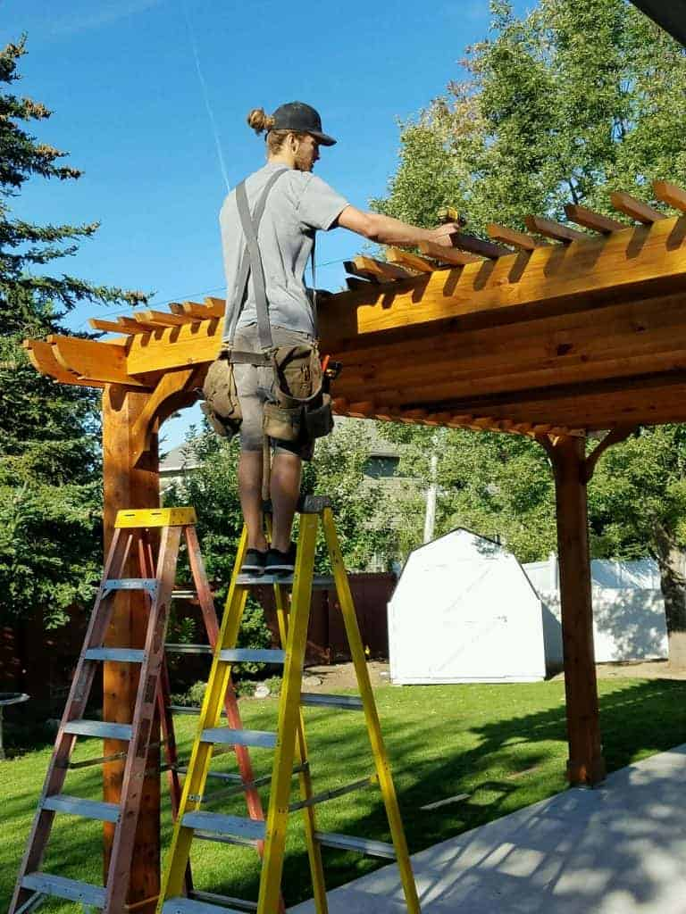 staining your wood pergola