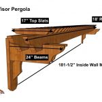 18′ Visor Attached Wall Pergola Kit