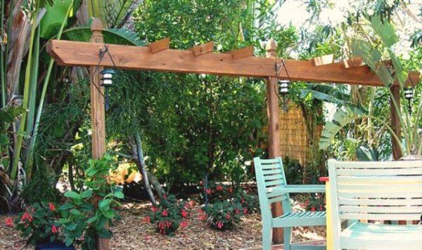 Brim garden pergola
