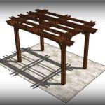 Fedora 4 post freestanding pergola kit