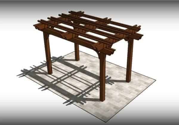 Fedora 4 post freestanding pergola kit