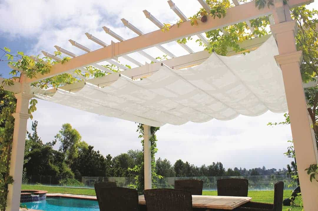 Retractable canopy for attached pergolas pergola depot - Pergolas carrefour 2017 ...