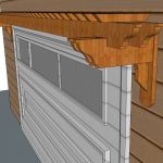 Visor Pergola sketch above garage door