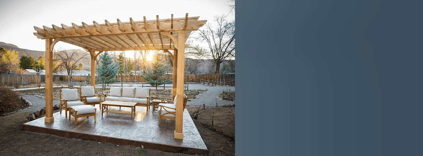 backyard pergola space