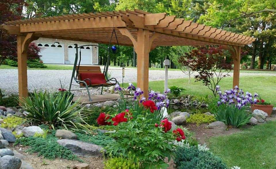 Patio enhancements planter box kits pergola kits by for Pond shade ideas