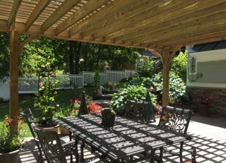 DIY patio shade