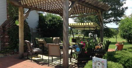Virginia pergola kit - backyard retreat