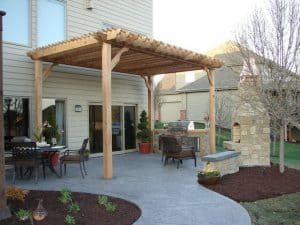 Outdoor Fireplace Ideas with Pergola Plans
