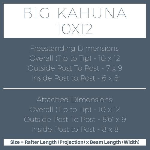 Big Kahuna 10x12 Pergola Kit Dimensions