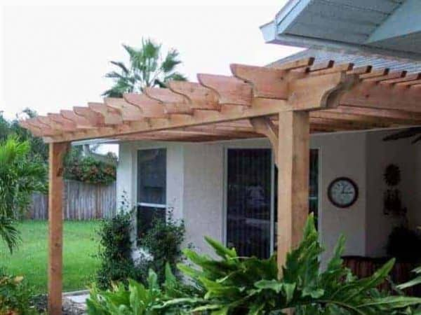 11×11 pergola attached