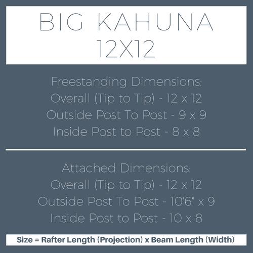 Big Kahuna 12x12 Pergola Kit Dimensions