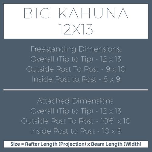 Big Kahuna 12x13 Pergola Kit Dimensions