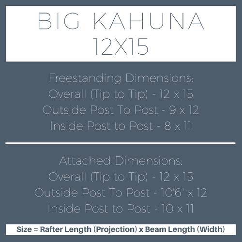 Big Kahuna 12x15 Pergola Kit Dimensions