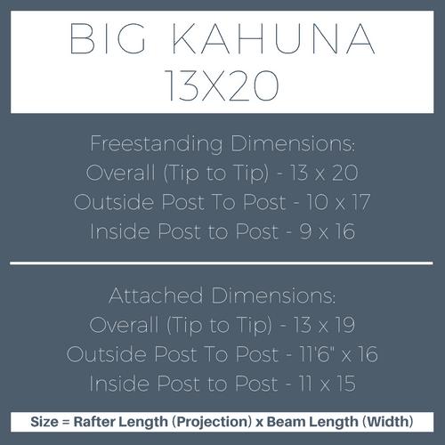 Big Kahuna 13x20 Pergola Kit Dimensions