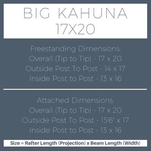 Big Kahuna 17x20 Pergola Kit Dimensions