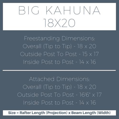 Big Kahuna 18x20 Pergola Kit Dimensions