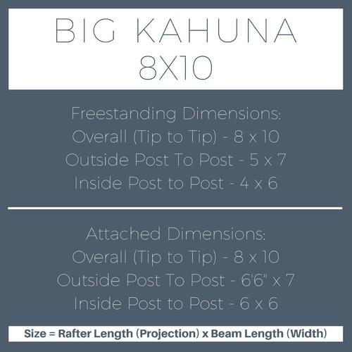 Big Kahuna 8x10 Pergola Kit Dimensions
