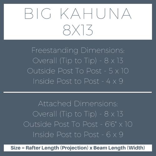 Big Kahuna 8x13 Pergola Kit Dimensions