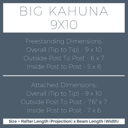 Big Kahuna 9x10 Pergola Kit Dimensions