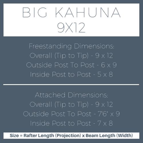 Big Kahuna 9x12 Pergola Kit Dimensions
