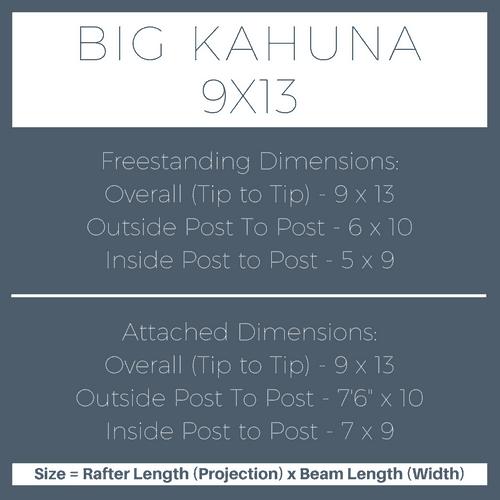 Big Kahuna 9x13 Pergola Kit Dimensions