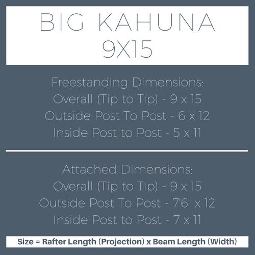 Big Kahuna 9x15 Pergola Kit Dimensions