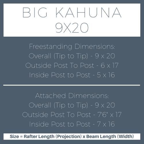 Big Kahuna 9x20 Pergola Kit Dimensions