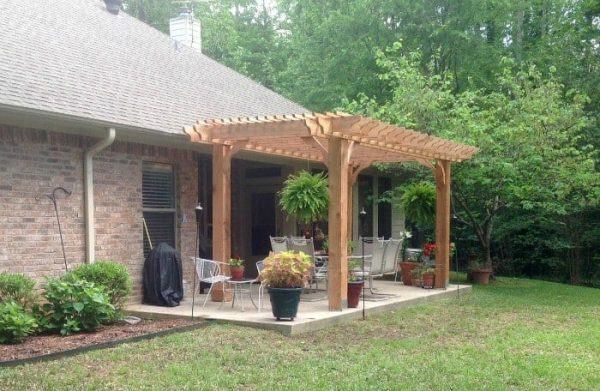 Backyard pergola kit