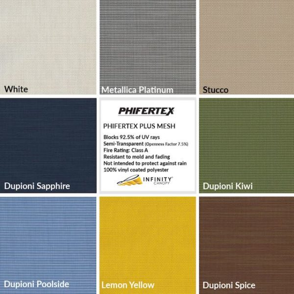 Canopy Fabric Colors – Phifertex fabric