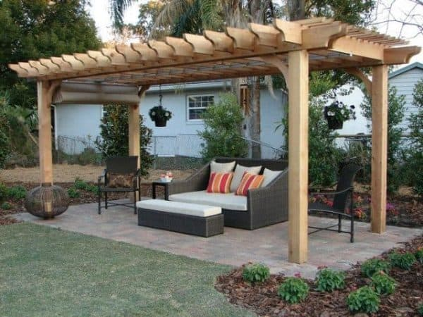 Cedar freestanding pergola kit