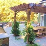 Cedar patio pergola attached