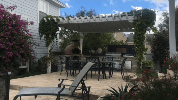 Freestanding Big Kahuna pergola painted
