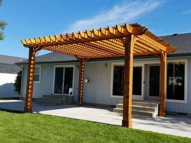 15x18 Pergola Kits Big Kahuna 15x18 Wood Pergola Kit