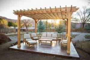 Wood patio cover pergola