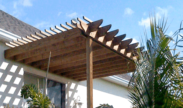 Sombrero pergola kit attached