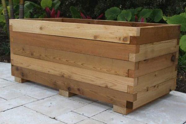 Large cedar planter box kit