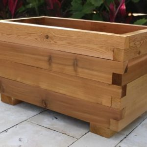 medium cedar planter box
