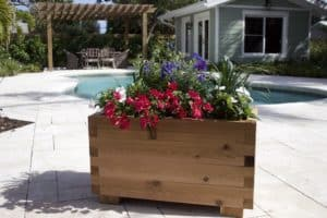 Outdoor Pergola and Planter Box Designs - Cedar Planter Box
