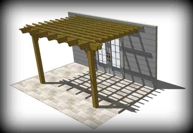 Sombrero attached pergola kit
