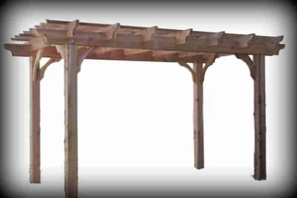 Sombrero freestanding cedar pergola kit