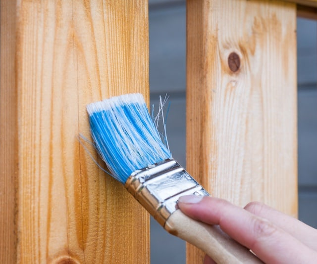 spring maintenance tips - staining wood