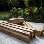 precut wood planter box