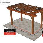 10×16 Fedora Pergola – Freestanding