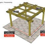 15×15 Fedora Pergola – Freestanding
