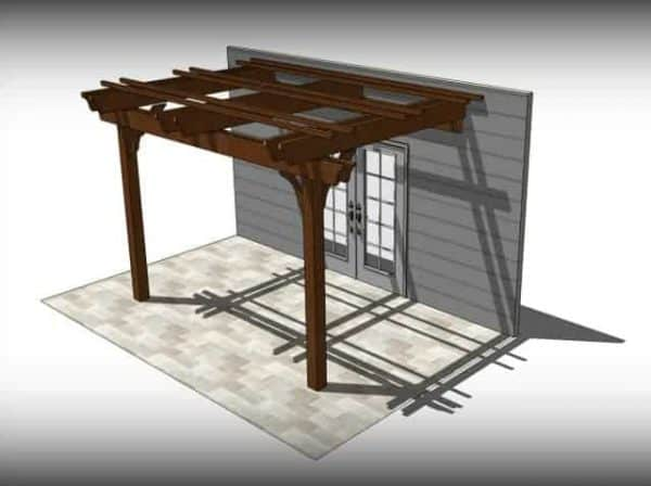 attached patio cover kit & 10x16 Patio Cover Kits | Fedora 10x16 Patio Pergola Kit - Wood ...