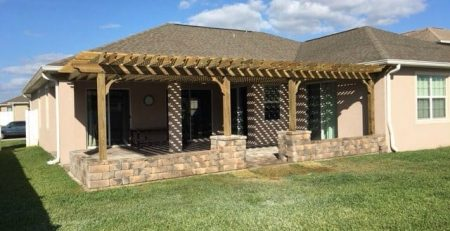 backyard shade ideas attached patio cover