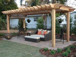 Big Kahuna 10x20 Cedar Pergola with Canopy