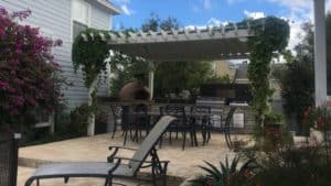 17x19 Freestanding Painted Pergola - Big Kahuna