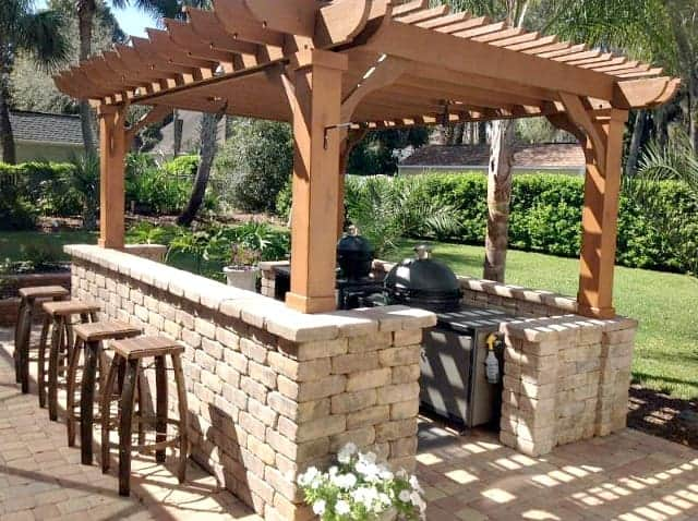 Outdoor Kitchen Pergola Ideas Pergolas For Your Outdoor Kitchen